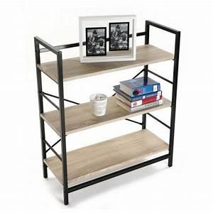 Etagere Bois Design : etagere bois structure metal noir 3 niveaux versa 20880012 ~ Teatrodelosmanantiales.com Idées de Décoration