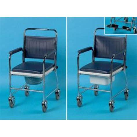 chaise de toilette chaise percée de toilette sur roues en acier days