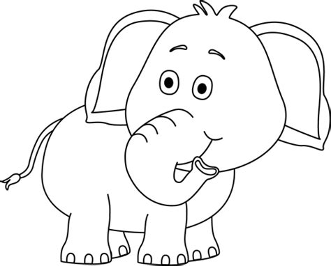 elephant clipart black and white black and white elephant looking clip black