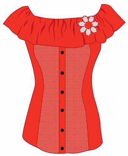 Clipart Female Blouse Shirts Transparent Clothing Clothes