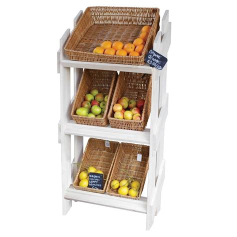 snack display rack office fruit and snack display stand with 6 wicker trays