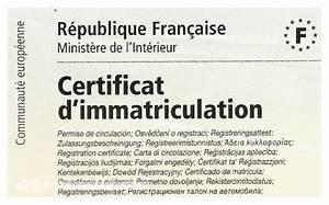Numéro De Plaque D Immatriculation : le certificat d 39 immatriculation ou carte grise ~ Maxctalentgroup.com Avis de Voitures