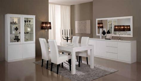 deco cuisine grise et salle a manger complete roma laqué blanc laque blanc