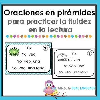 spanish fluency pyramids simple sentences  images