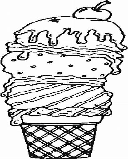 Ice Cream Coloring Pages Summer Donuts Template