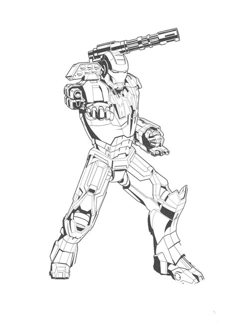 Iron Patriot Coloring Coloring Pages