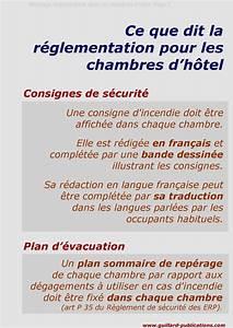 hotel affichage obligatoire dans les chambres source With reglementation incendie chambre d hotes
