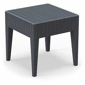Table Carre Exterieur : table basse d 39 ext rieur carr miami lounge en r sine noire mooviin ~ Teatrodelosmanantiales.com Idées de Décoration