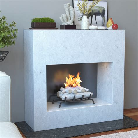 18 Inch Birch Convert to Ethanol Fireplace Log Set with