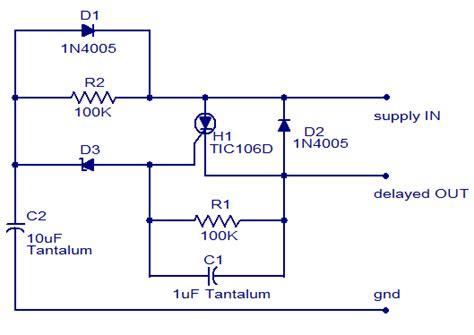 Dc Power Delay Circuit |simple Schematic Diagram
