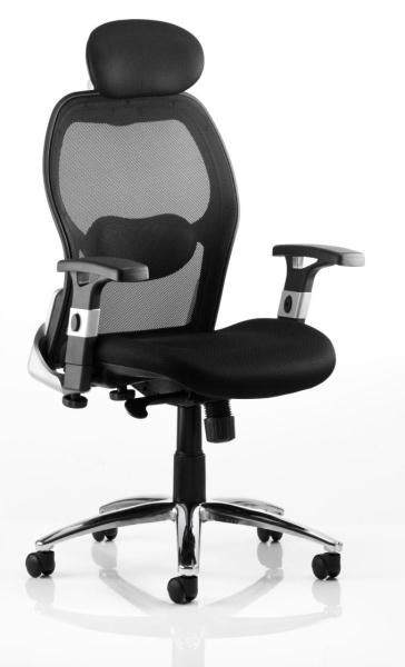 mesh high back office chair with adjustable lumbar