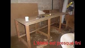 Fabriquer Un établi : atelier fabrication d 39 un tabli youtube ~ Melissatoandfro.com Idées de Décoration