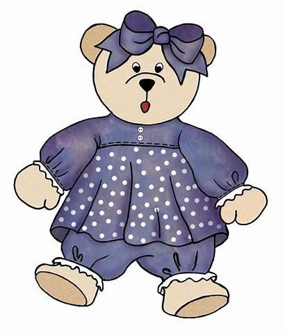 Bear Teddy Clip Clipart Bears Purple Plush