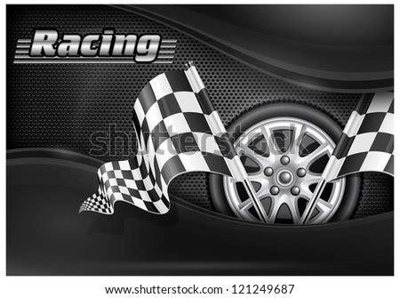 racing banner car wheel vector stock vector