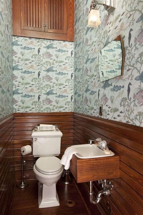 narrow powder room feel inviting