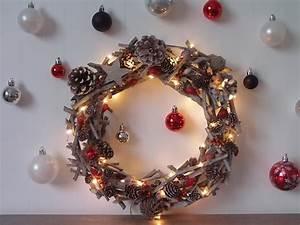 Faire Une Couronne De Noel : couronne de no l esprit nature truc tricks ~ Preciouscoupons.com Idées de Décoration