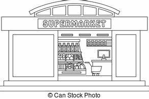 supermarket clipart black and white 3   Clipart Station