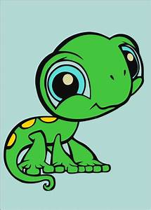 Cute little, big eyed Lizard   Cartoon Aniamls   Pinterest ...