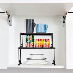 2, Pcs, Kitchen, Cabinet, Counter, Shelf, Organizer, Rack, Expandable, Stackable, Storage