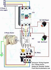 3 Pole Contactor Wiring Diagram Schematic Diagram