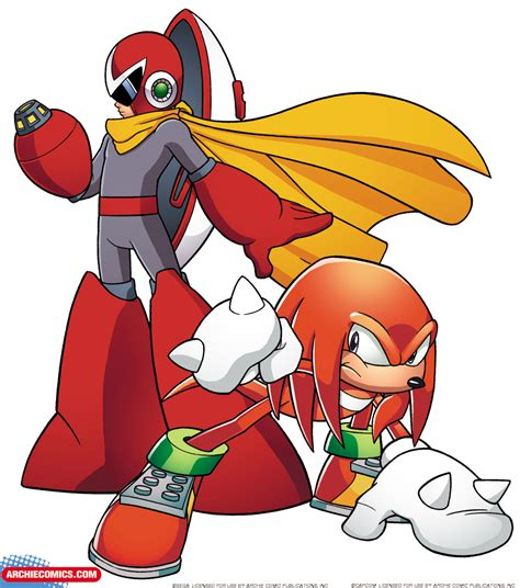Megaman And Sonic Vs Protoman And Knuckles Vs Bass And Shadow