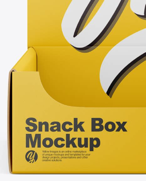 Dear visitor, you went to the site as unregistered user. Matte Snack Box Mockup in Box Mockups on Yellow Images ...