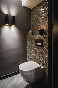 Dekoration Gäste Wc : idee g ste wc mosaik glimmer dunkle w nde schimmer glas gold zusammen mit aufregend haus ~ Buech-reservation.com Haus und Dekorationen