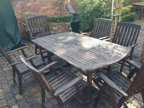 large oval pedestal teak garden table chairs