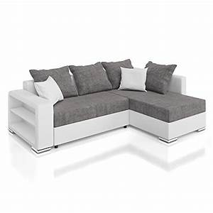 Großes Sofa Günstig : vicco sofa couch polsterecke houston ecksofa schlaffunktion schlafsofa wei grau ~ Indierocktalk.com Haus und Dekorationen