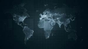 Global Grey World Map Loop. This animated World map with ...
