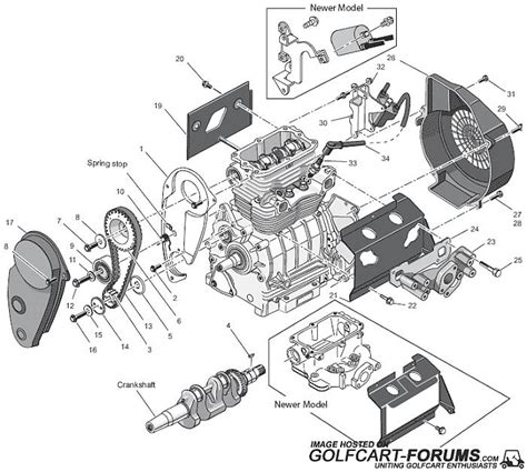 Ezgo Golf Cart Engine Diagram by Ezgo Robin Eh29 And Eh35c Gas Engine Diagrams Golf