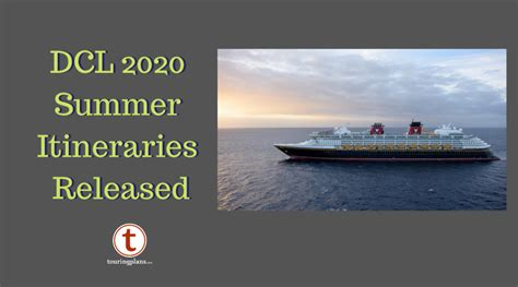 disney cruise announces summer itineraries touringplans
