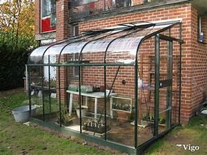 Serre Adossée Bois : demi serre metal mobilier de jardin et terasse ~ Melissatoandfro.com Idées de Décoration