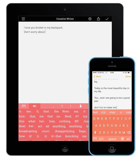 apple writing app  ipad