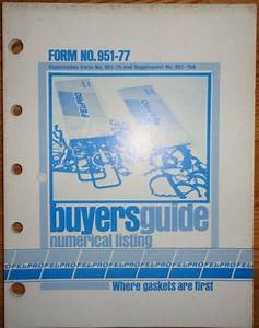 1977 Fel Pro Gasket Buyers Guide Parts Catalog Manual