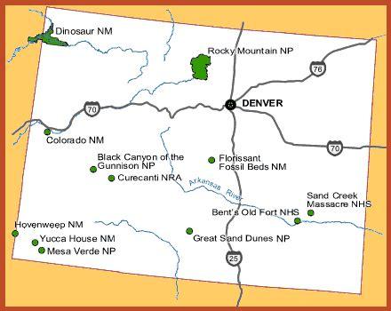 colorado attractions map  travel information