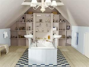 Implantation Salle De Bain : am nager une salle de bains sous les toits ~ Dailycaller-alerts.com Idées de Décoration