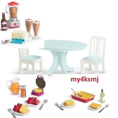 american doll kitchen table american doll kitchen food dining table set 3 food