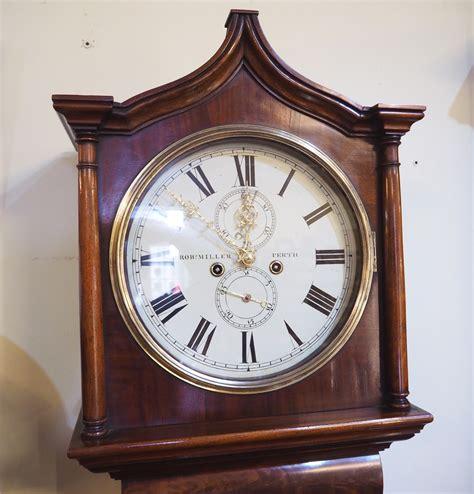 fine scottish mahogany  day longcase clock la