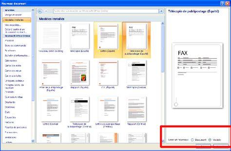 Pour Word by Cr 233 Ation D Un Mod 232 Le De Document Pour Office Word