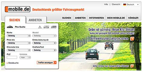 mobile de auto verkaufen auto recherche mobile de und autoscout24 de gr 252 ner fahren