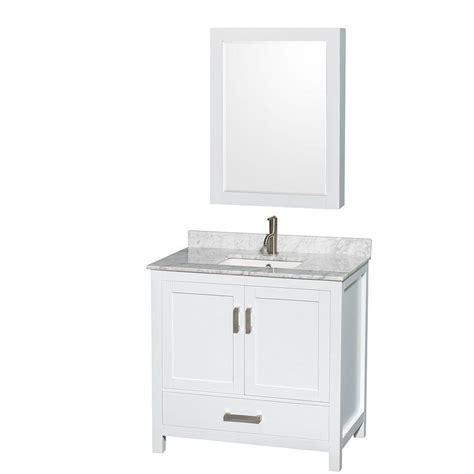 wyndham collection sheffield 36 in vanity in white with