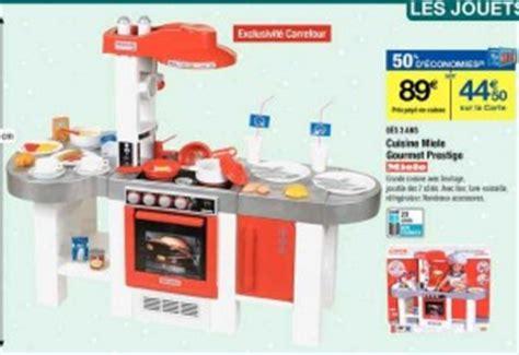 miele cuisine jouet cuisine miele gourmet prestige avec 50 de credit sur la carte carrefour