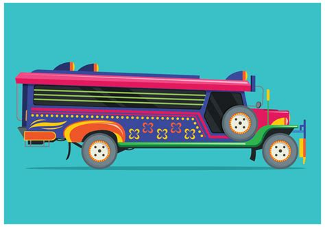 philippines jeepney vector free jeepney illustration vector download free vector