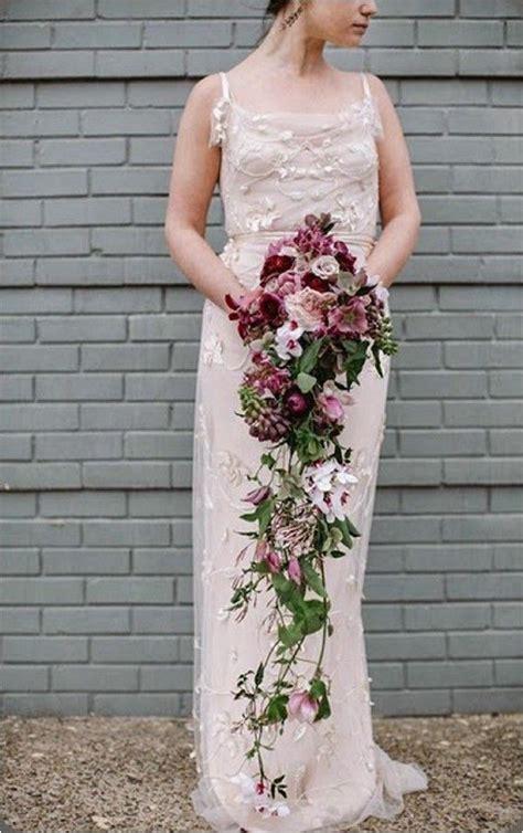 top  bridal bouquet trends   cascading bridal