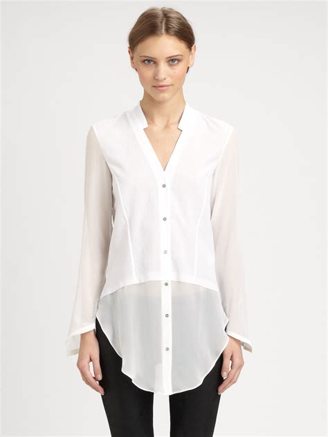 sheer white blouse sheer white shirt is shirt