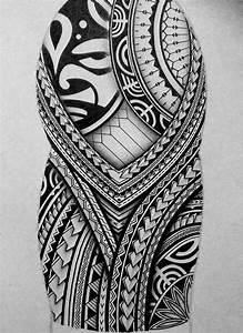 I created a Polynesian half sleeve tattoo design for my ...