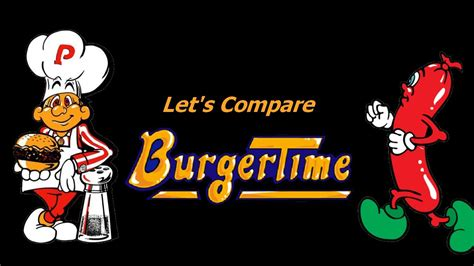 Lets Compare Burgertime Remake Youtube