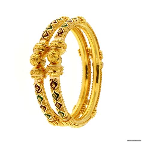 ct indian gold babys bangles pair