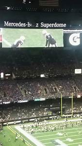 Mercedes Benz Superdome Section 607 Row 20 Seat 17